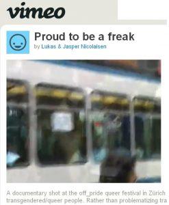 Vimeo Vorschaubild der Dokumentation mit Ausschnitt eines Bildes einer Strassenbahn