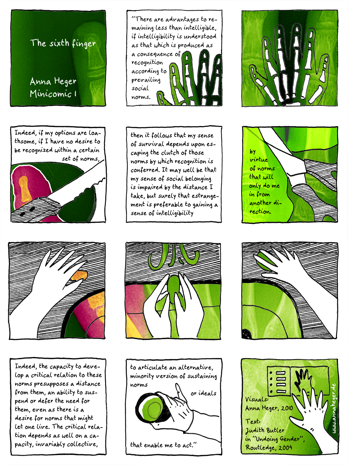 Minicomic 01 : The sixth finger, the entire comic is transcribed to plain text