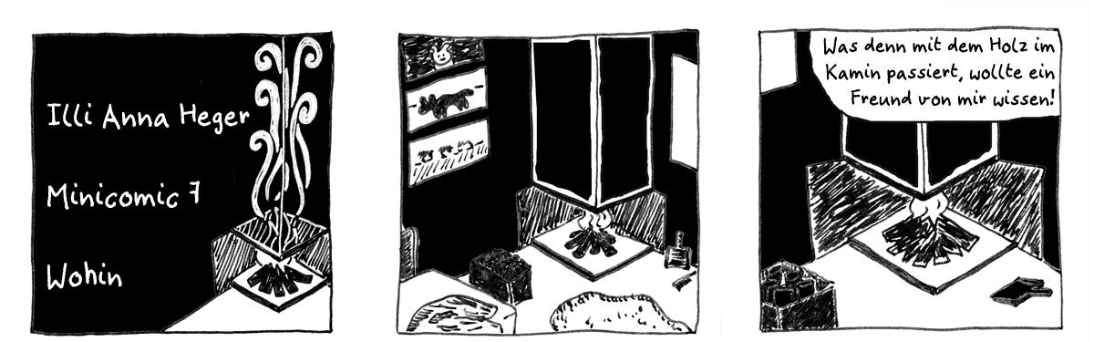 Minicomic 7, Wohin, das ganze Comic wird im folgenden in reinen Text transkribiert