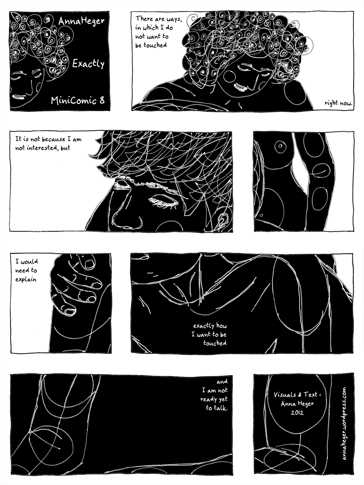Minicomic 8e: Exactly, the entire comic is transcribed to plain text