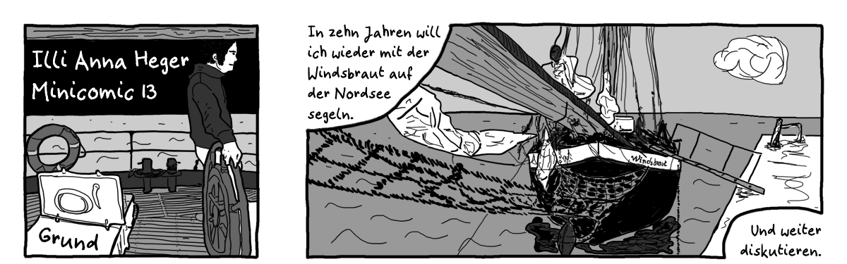 Minicomic 13 Grund, das ganze Comic wird im folgenden in reinen Text transkribiert