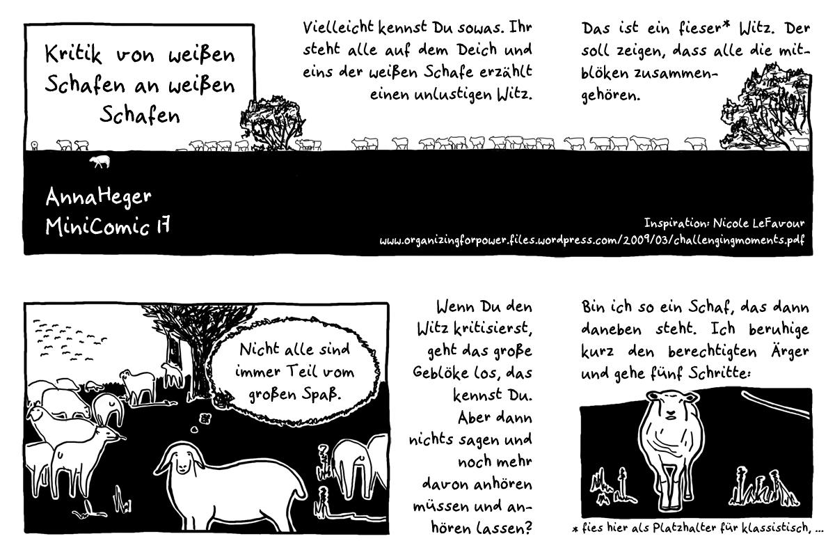 MiniComic 17 Kritik, das ganze Comic wird im folgenden in reinen Text transkribiert