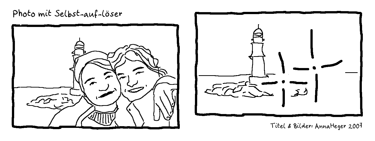 Comic: Photos mit Selbst-auf-löser