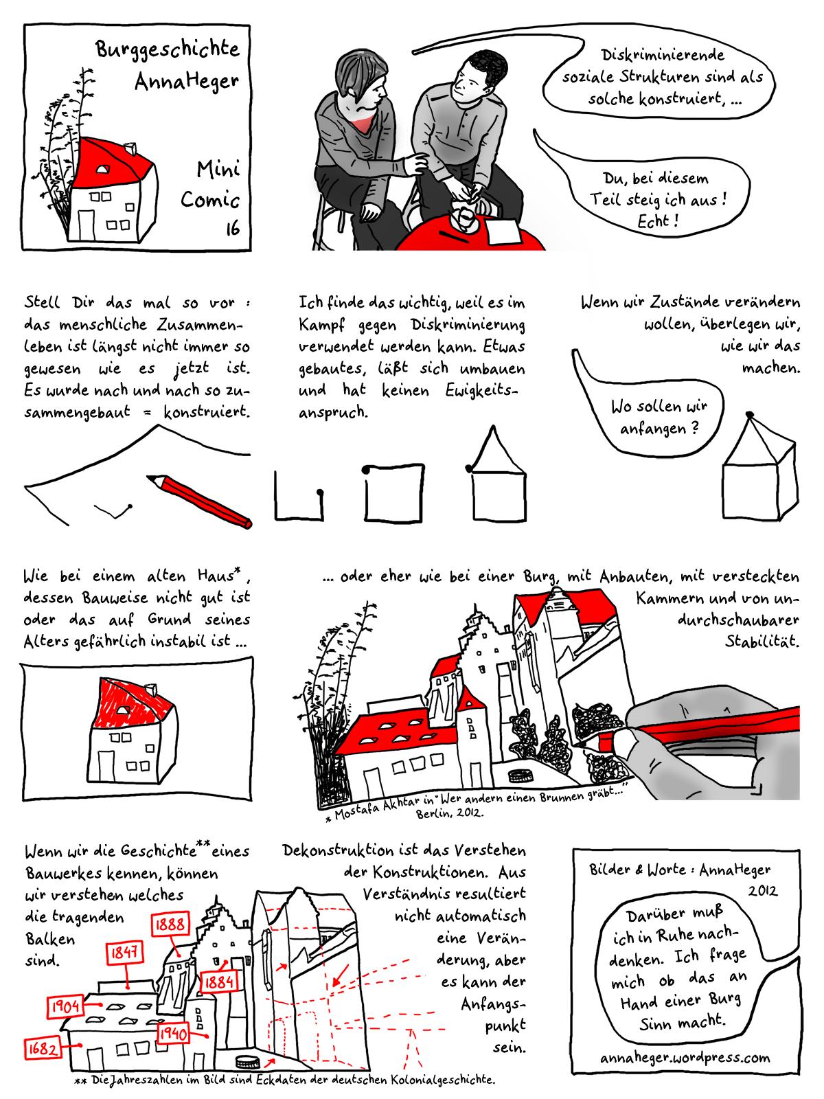 visuelles Minicomic 16 , das ganze Comic wird im folgenden in reinen Text transkribiert