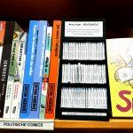 minicomic shelf in the bookshop Buchhandlung im Schanzenviertel