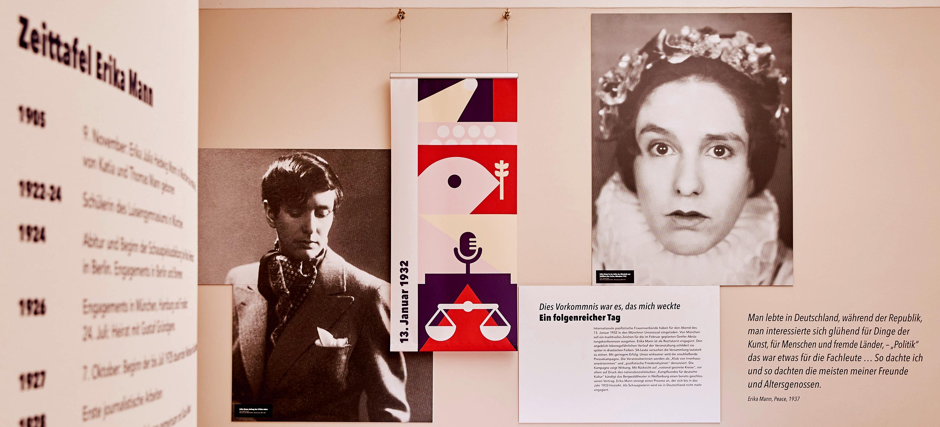 großformatige Portraits in der Ausstellung