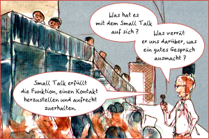 Extract of a comic documenting a discussion event.