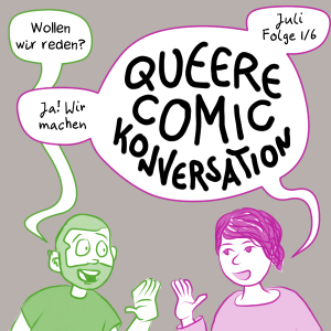 Teaser für Queer Comic Conversations: Juli Episode 1 von 6: Sam fragt