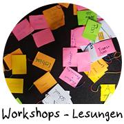 Link zur Übersicht der Workshops und Lesungen