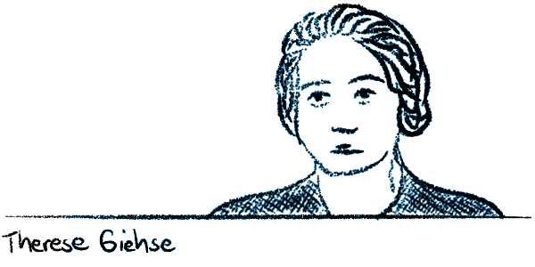 Sketch of Therese Giehse