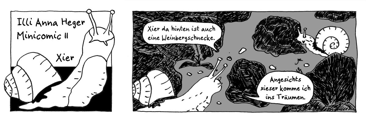 Minicomic Xier, das ganze Comic wird im folgenden in reinen Text transkribiert