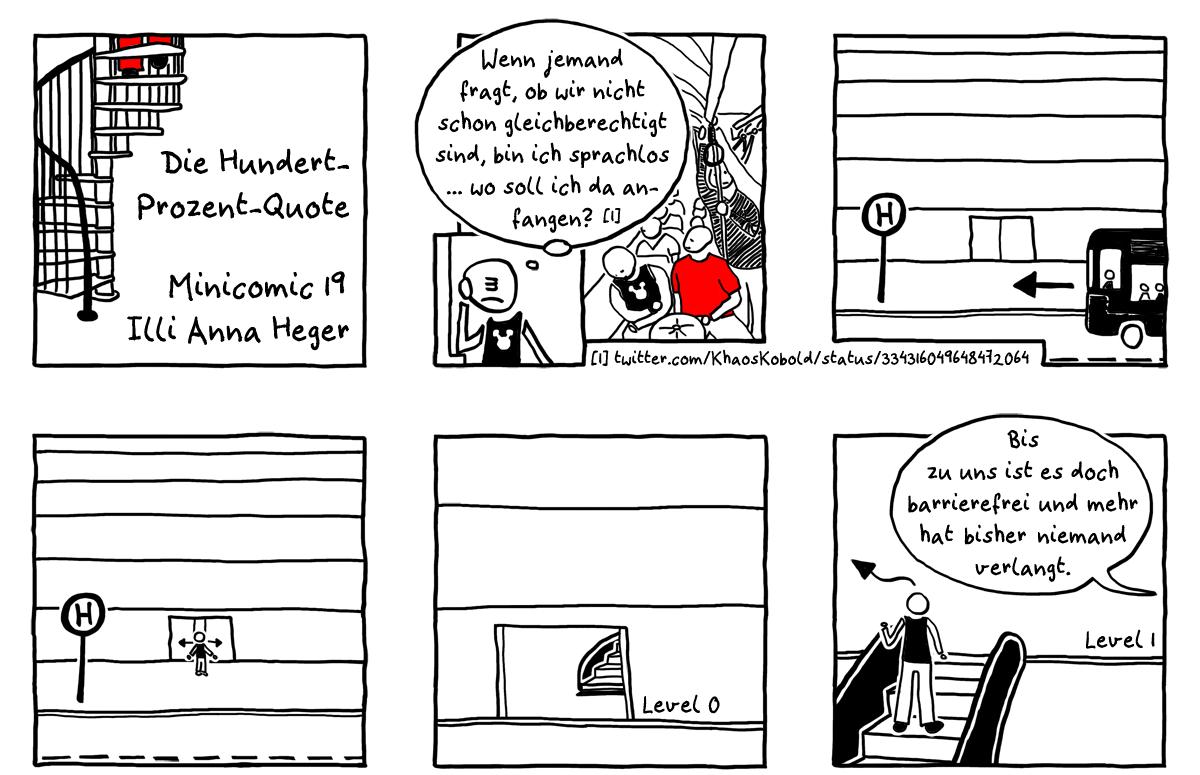 MiniComic 19 Die Hundert-Prozent-Quotedas ganze Comic wird im folgenden in reinen Text transkribiert