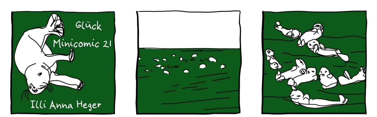 Minicomic 21 : Glück, das ganze Comic wird im folgenden in reinen Text transkribiert