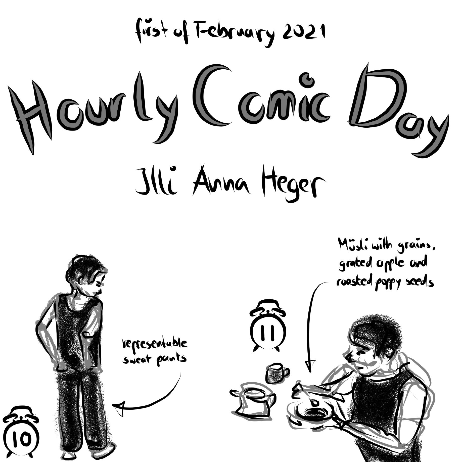 Hourly Comic Day 2021, the entire comic is transcribed to plain text