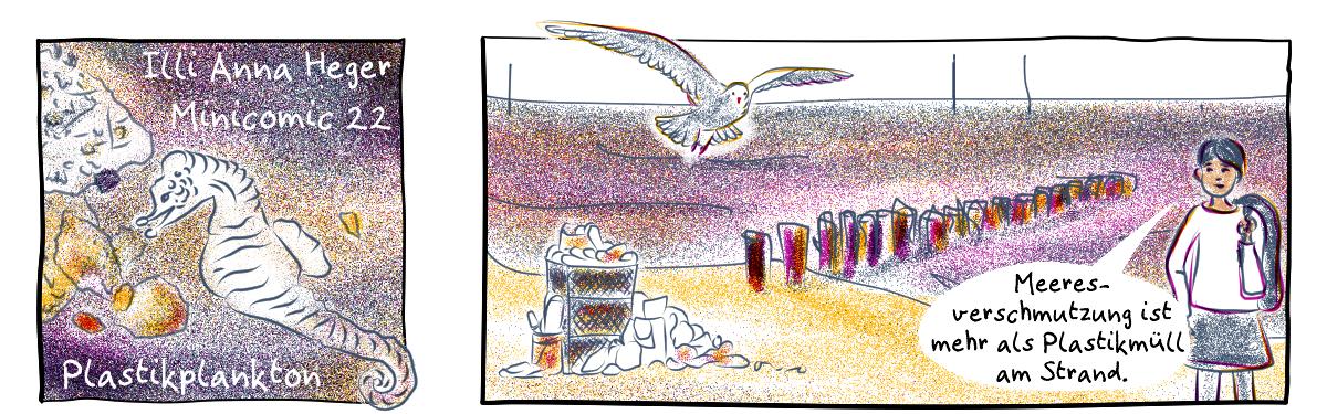 Minicomic 22 : Plastikplankton, das ganze Comic wird im folgenden in reinen Text transkribiert